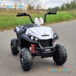 Электроквадроцикл T111TT белый (колеса резина, сиденье кожа, музыка)
